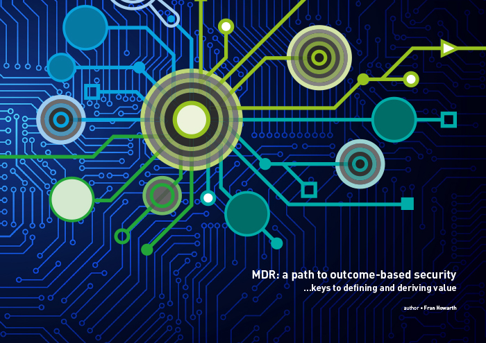 Cover for MDR: a path to outcome-based security - Keys to defining and deriving value