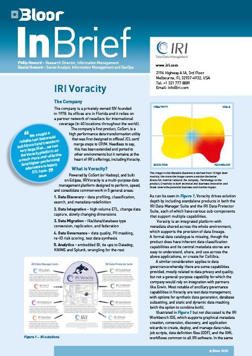 Cover for IRI Voracity