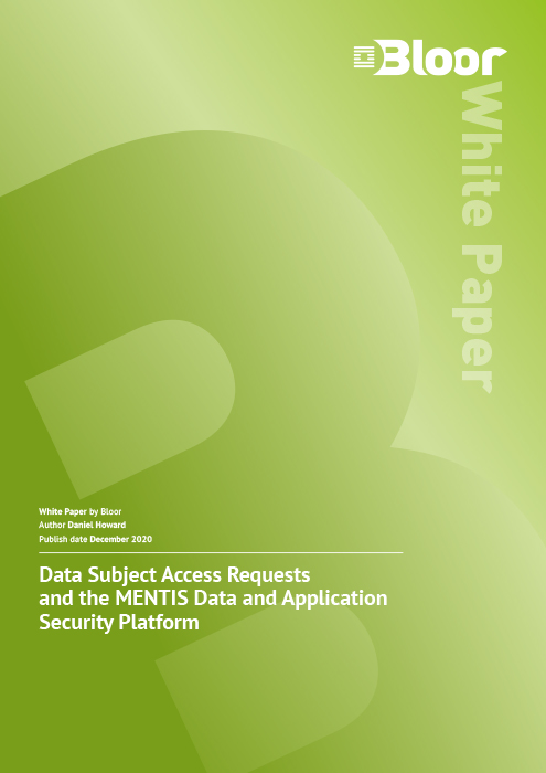 Cover for Data Subject Access Requests and the MENTIS Data and Application Security Platform
