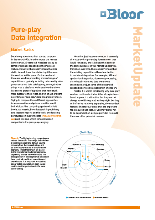 Cover for Pure-play Data Integration
