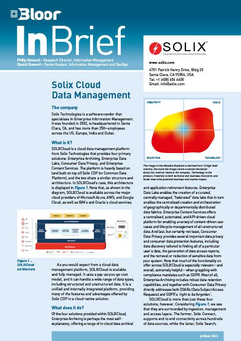 Cover for Solix Cloud Management