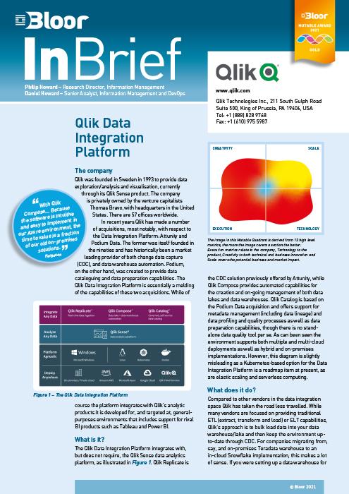 Cover for Qlik Data Integration Platform