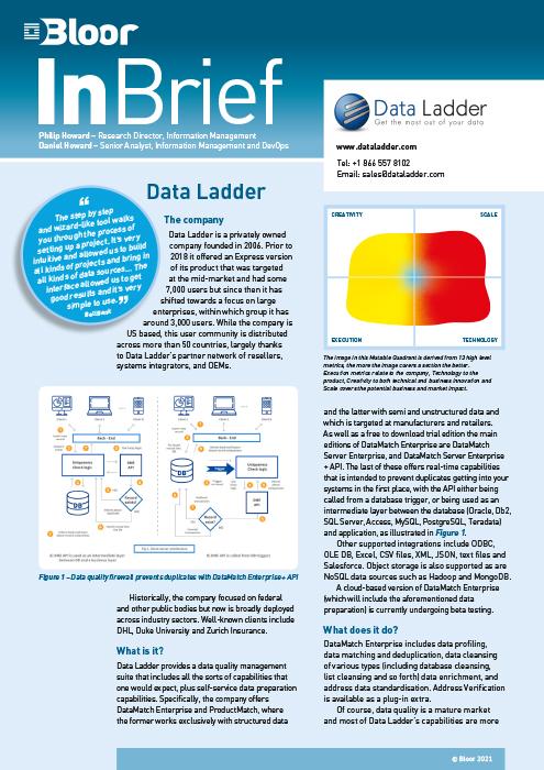 Cover for Data Ladder