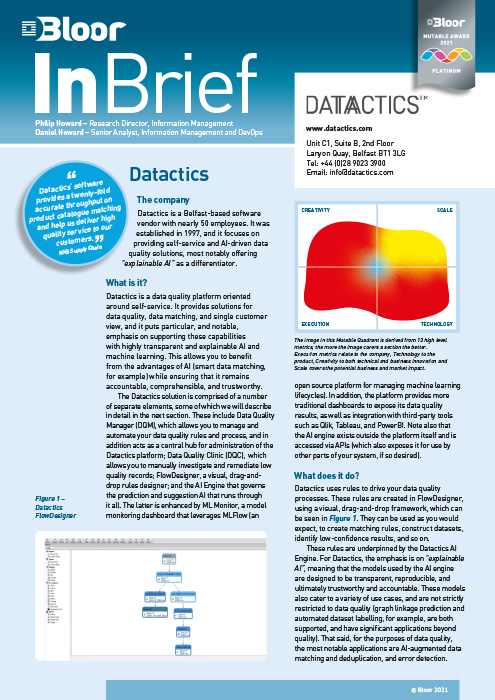 Cover for Datactics