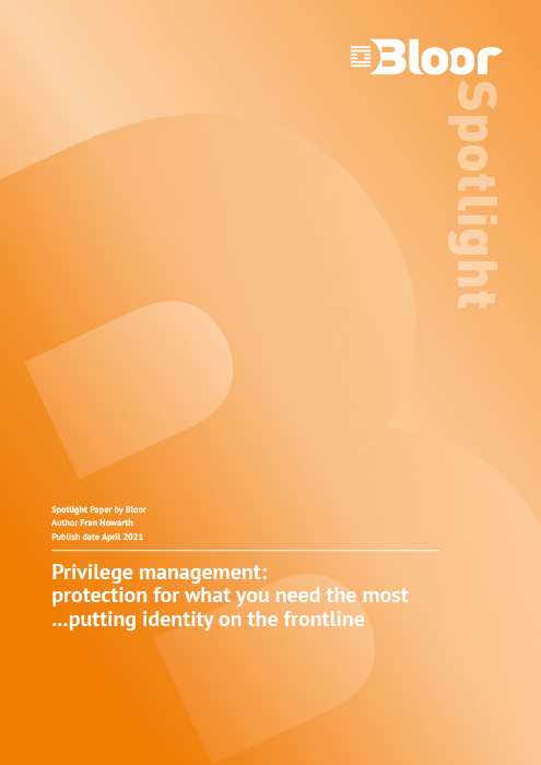 Cover for Privilege Management - Protection for what you need the most… putting identity on the frontline