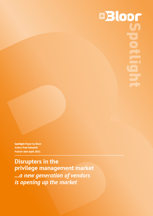 Cover for Disrupters in the Privilege Management Market