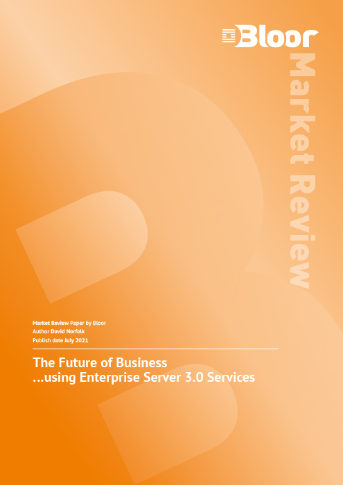 Cover for The Future of Business… using Enterprise Server 3.0 Services