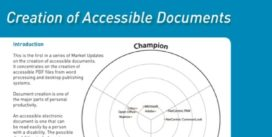 Cover for Creation of Accessible Documents
