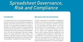Cover for Spreadsheet Governance, Risk and Compliance