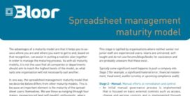 Cover for Spreadsheet management maturity model