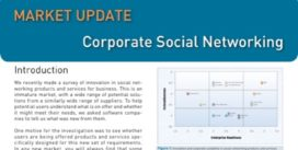 Cover for Corporate Social Networking