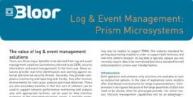 Cover for Log & Event Management: Prism Microsystems