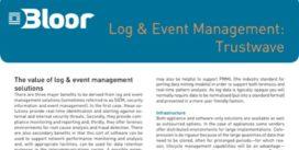 Cover for Log & Event Management: Trustwave