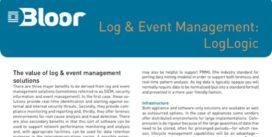 Cover for Log & Event Management: LogLogic
