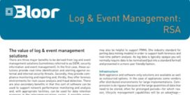 Cover for Log & Event Management: RSA