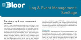 Cover for Log & Event Management: SenSage