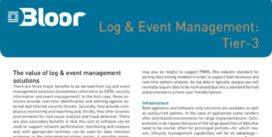 Cover for Log & Event Management: Tier-3