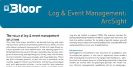 Cover for Log & Event Management: ArcSight