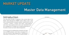 Cover for Master Data Management Market Update - 2011