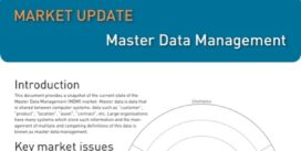 Cover for Master Data Management Market Update - 2012