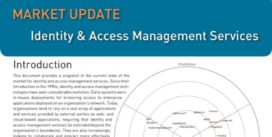 Cover for Identity & Access Management Services