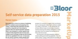Cover for Self-service data preparation 2015
