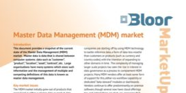 Cover for Master Data Management Market Update - 2015