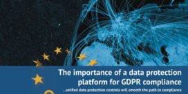Cover for The importance of a data protection platform for GDPR compliance