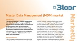 Cover for Master Data Management Market Update - 2016