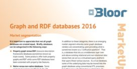 Cover for Graph and RDF databases Market Update 2016