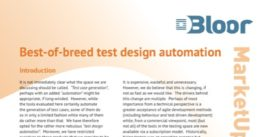 Cover for Best-of-breed test design automation