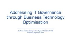 Cover for Addressing IT Governance through BTO
