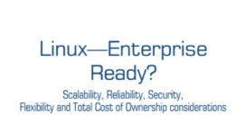 Cover for Linux – Enterprise Ready?