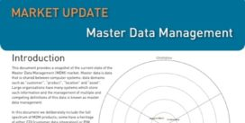 Cover for Master Data Management Market Update – 2013