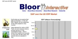 Cover for Sap own the UK ERP Market