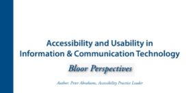 Cover for Usability and Accessibility in ICT
