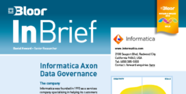 Cover for the Informatica Axon Data Governance InBrief