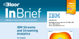 Cover for IBM Streams and Steaming Analytics
