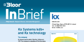 Cover for the Kx Systems InBrief