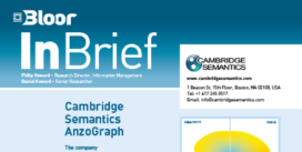 Cover for the Cambridge Semantics AnzoGraph InBrief