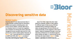 DISCOVERING SENSITIVE DATA MarketUpdate (cover thumbnail)